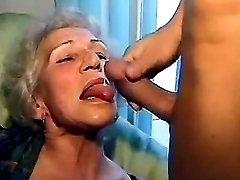 Granny gets drilled n cum on tongue